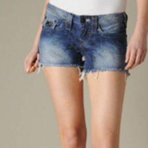 NWT $178 True Religion 30 Kiera Cut Off Shorts
